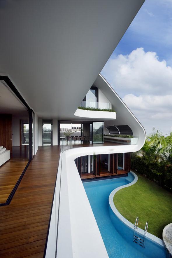 «Трехпалубная» вилла от Aamer Architects. Изображение № 7.