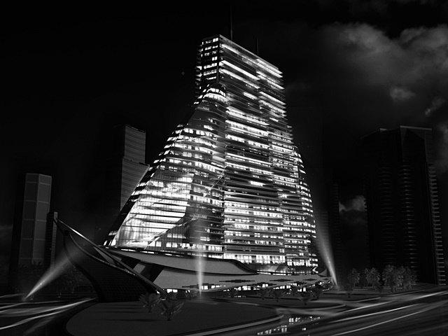 Российский архитектор показал больницу-небоскрёб в виде яхты. Изображение № 5.