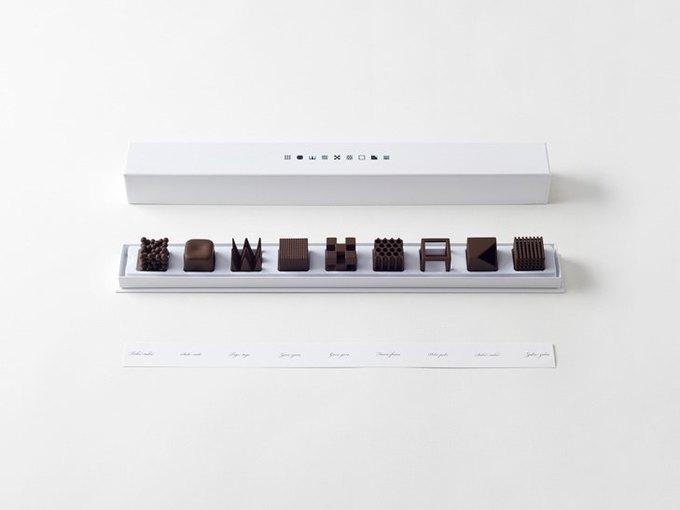 Дизайнеры Nendo разработали шоколад с разными текстурами. Изображение № 1.