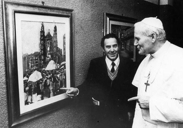 Карло Риккарди вместе с Папой Римским. Изображение № 1.
