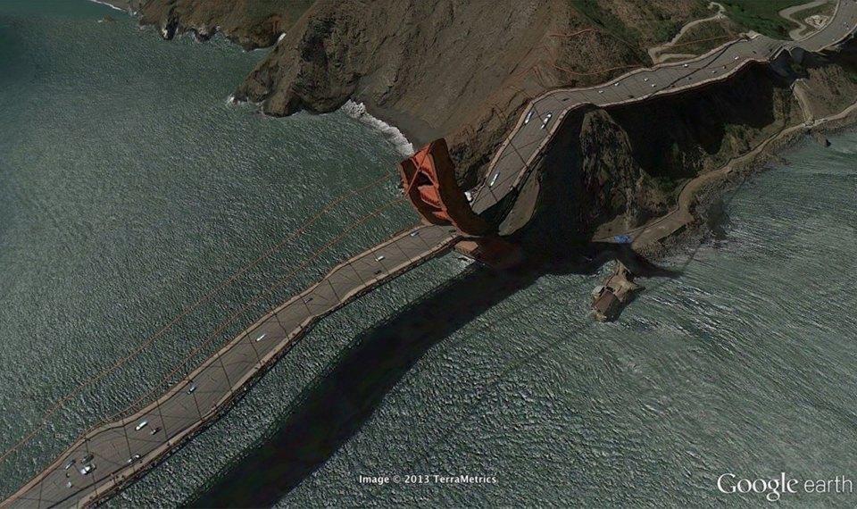 32 фотографии из Google Earth, противоречащие здравому смыслу. Изображение №10.