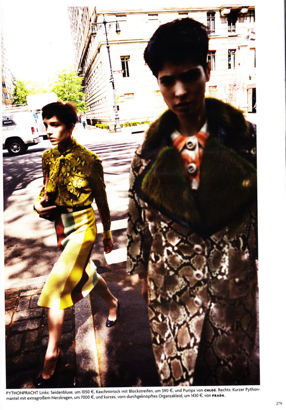 Съёмка: Хана Бен Абдесслем и Валерия Келава для Vogue. Изображение № 18.