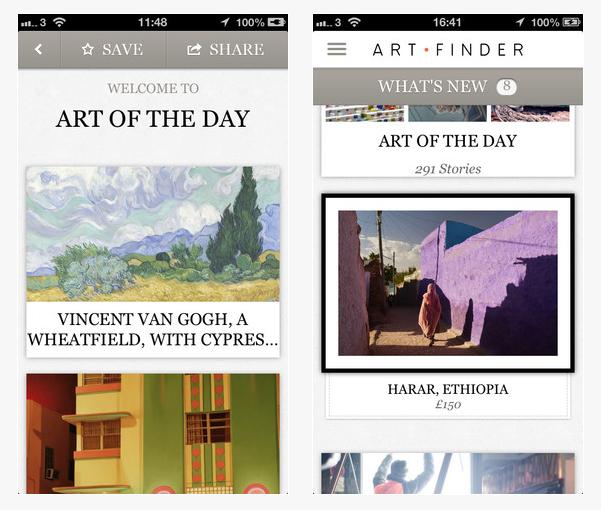 Скриншот приложения Artfinder. Изображение № 1.