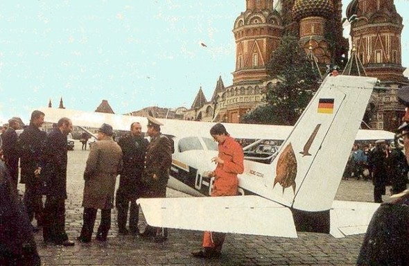 Запитые имена! Матиас Руст! Гамбург-Москва! 1987. Изображение № 1.