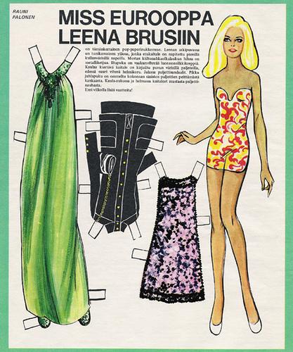 Бумажные куклы 1960-х годов!. Изображение № 11.