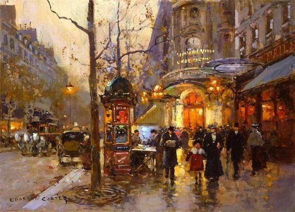 Эдуард Леон Кортес. Перенесёмся в Париж. Изображение № 21.