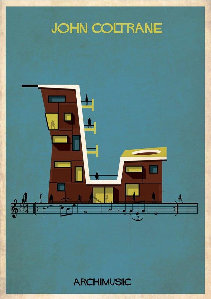 Испанский архитектор превратила песни в здания для новой серии плакатов . Изображение № 8.