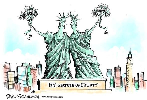 Нью ЛГБТ-Йорк: художники-карикатуристы о легализации однополых браков. Изображение № 3.