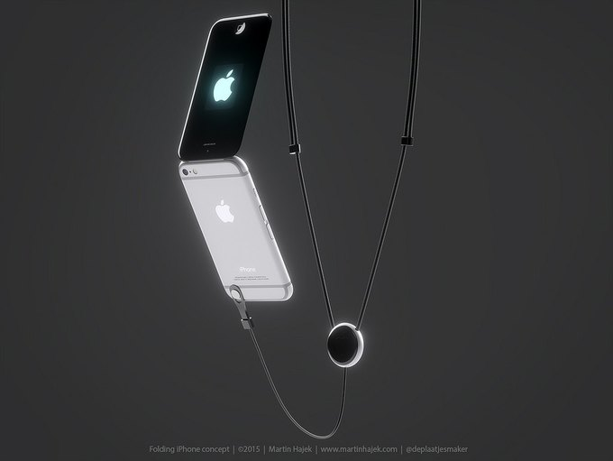 Дизайнер создал концепт раскладного iPhone 6 . Изображение № 2.