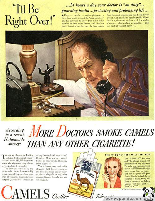 Винтажная реклама, которая бы сегодня оказалась под запретом. Изображение № 16.