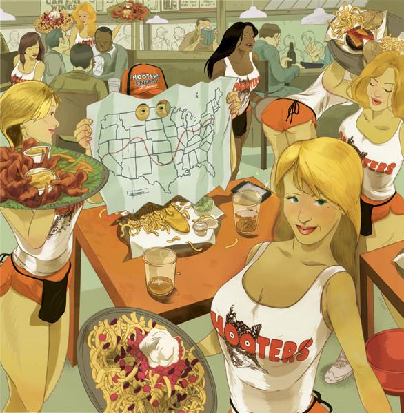 Рисунки американского иллюстратора Марко Шина.. Изображение № 40.
