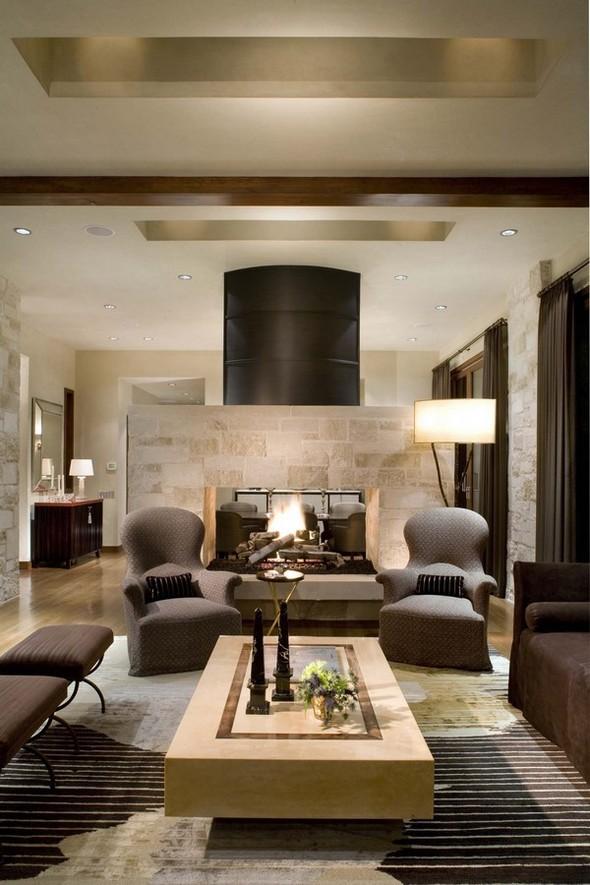 Настоящий огонь у вас дома. 12 вариантов каминов в жилых помещениях. Изображение № 12.