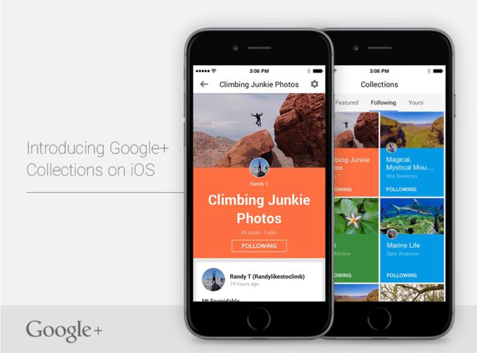 Google+ Collections появилась для iOS . Изображение № 1.