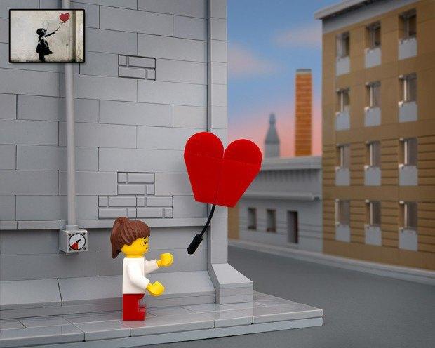 Работы Бэнкси воссоздали в конструкторе LEGO. Изображение № 2.