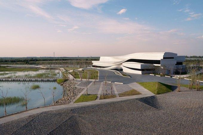 Архитектура дня: музей в Китае сбелым «слоёным» фасадом. Изображение № 3.