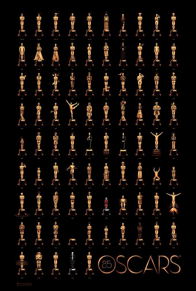 Представлен впечатляющий постер «Оскара 2013». Изображение № 1.