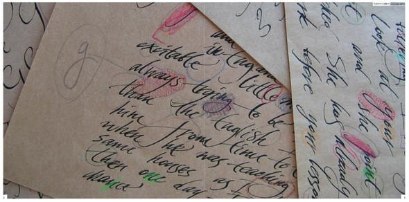 Выдающиеся российские шрифтовики икаллиграфы. Изображение № 39.