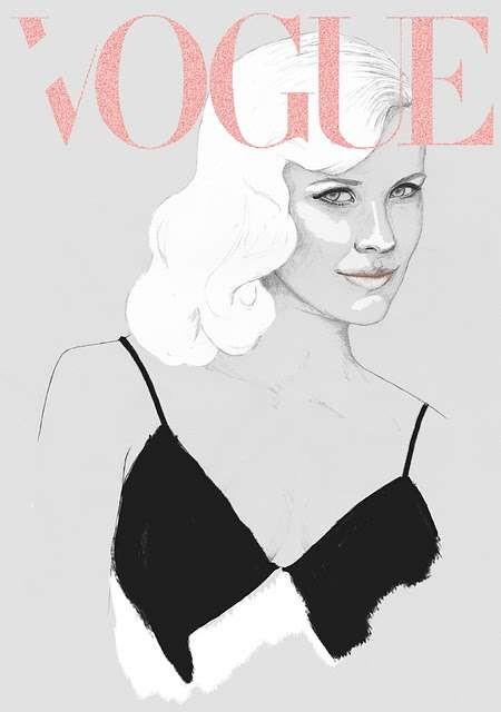 Vogue Covers: знаменитая Hazel Castle нарисовала журнал карандашом. Изображение № 2.