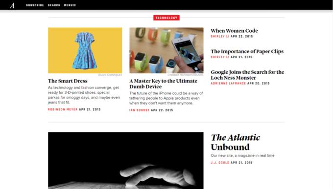 Сайт издания The Atlantic полностью обновили. Изображение № 3.