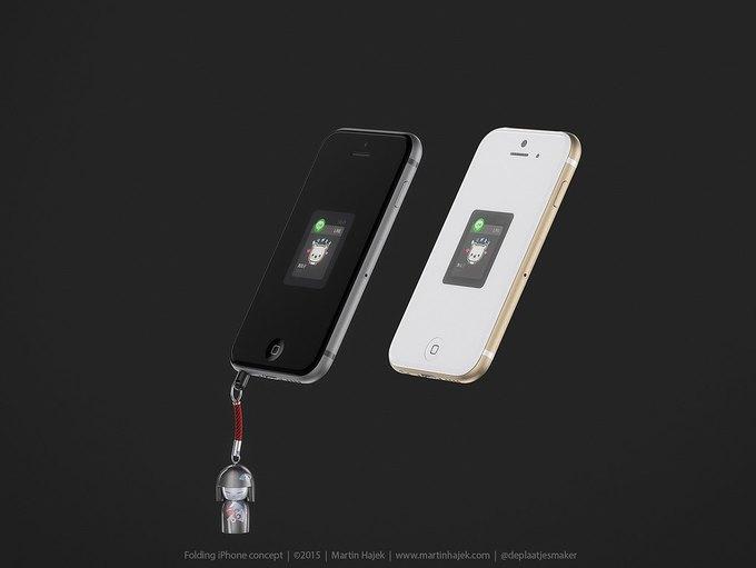 Дизайнер создал концепт раскладного iPhone 6 . Изображение № 10.