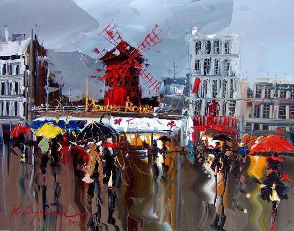 Красные зонтики художника Kal Gajoum. Изображение № 3.