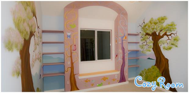 Детская комната по мотивам мультфильма «Рапунцель. Запутанная история». Изображение № 12.