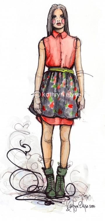 Kathryn Elyse. Fashion Illustrations. Изображение № 21.