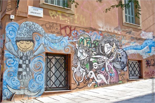 Стрит-арт и граффити Афин, Греция. Часть 2. Изображение № 2.