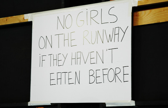 NO GIRLS ON THE RUNWAY IF THEY HAVEN'T EATEN BEFORE. Изображение № 1.