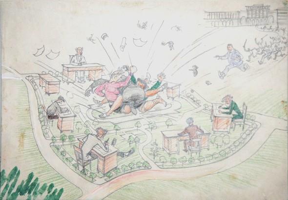 Советская карикатура НА ЗлоБу ДнЯ. Изображение № 3.