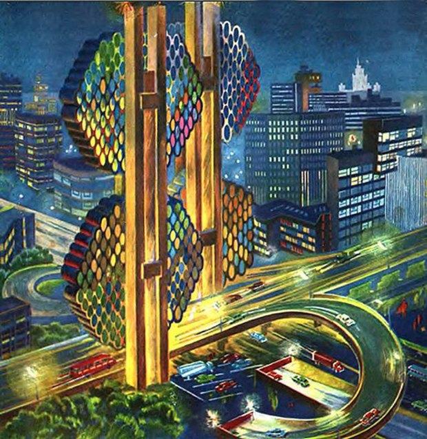 Лифт в космос  и город-плотина: Каким видели будущее в СССР. Изображение № 3.