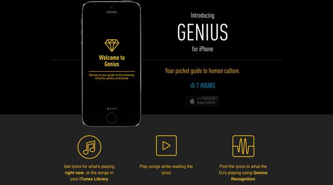 RapGenius выпускает iOS-приложение. Изображение № 1.