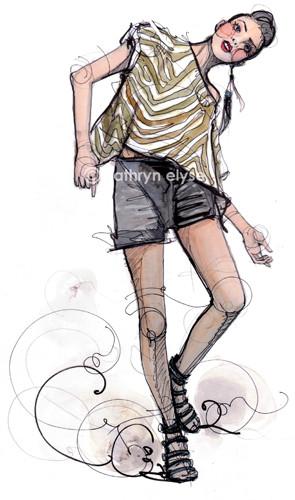 Kathryn Elyse. Fashion Illustrations. Изображение № 18.