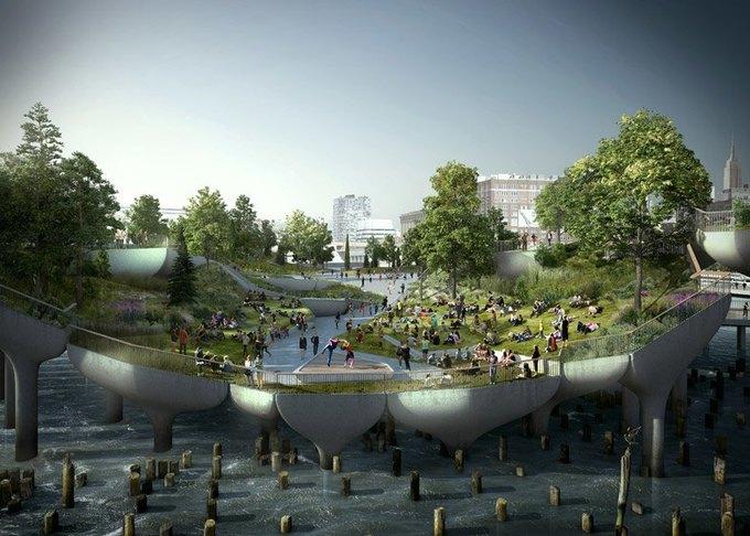 Пирс в Нью-Йорке превратят в плавучий парк. Изображение № 5.