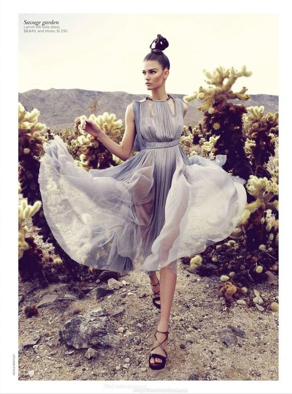 Съёмка: Марло Хорст и Кендра Спирс для австралийского Vogue. Изображение № 10.