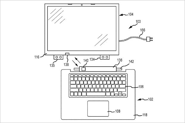 Apple получила патенты нааналог Surface Book иклавиатуру с3DTouch. Изображение № 3.