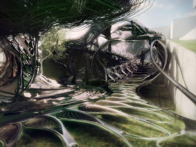 Архитектор предложил концепцию «биологического» дома. Изображение № 3.