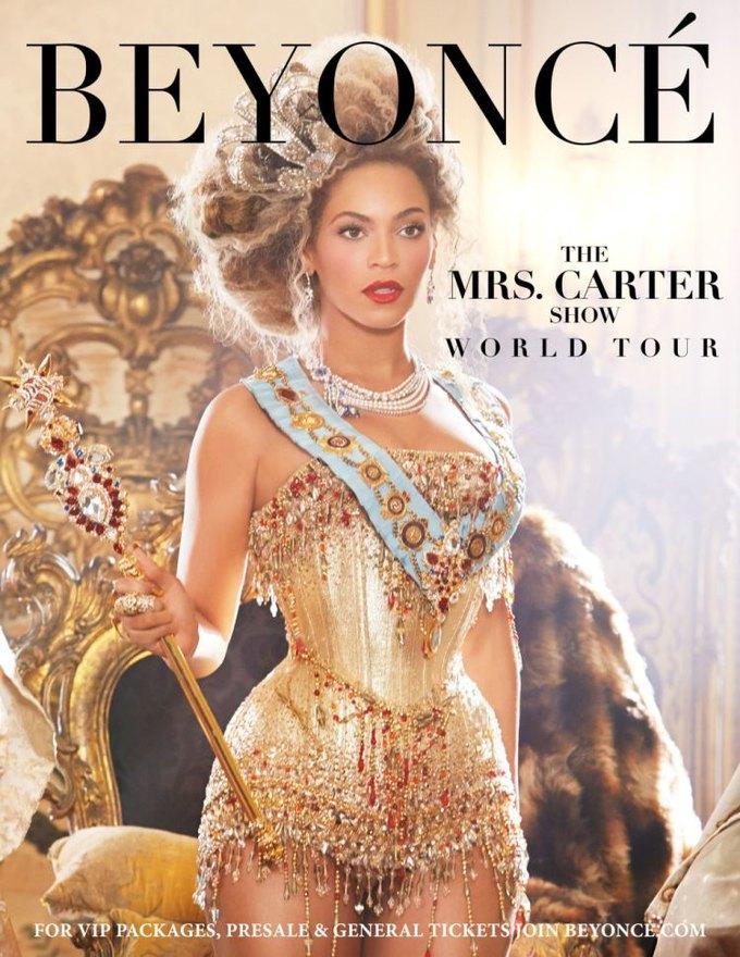 Постер концертного тура Mrs. Carter. Изображение № 1.