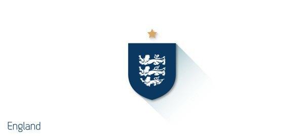 Представлены «плоские» версии гербов национальных сборных . Изображение № 1.