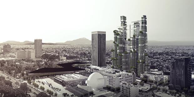 Архитектура дня: вертикальный квартал из 9небоскрёбов. Изображение № 1.