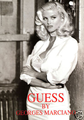 Архивная съёмка: Анна Николь Смит для кампании Guess, 1993. Изображение № 9.
