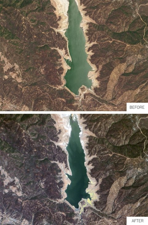 Водохранилище Озеро Каунти (Калифорния) через год после засухи. Изображение № 2.