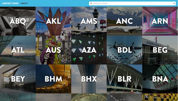 Сайт дня: что значат 3-буквенные коды аэропортов. Изображение № 1.