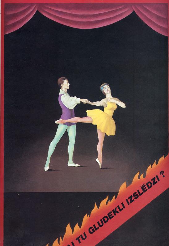 Пластическая экспрессия латышского плаката 70 – 80-егг. Изображение № 7.
