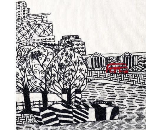 Чарлин Муллен. Городские пейзажи с помощью иглы и нити. Изображение № 8.