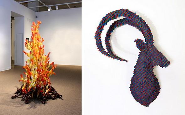 """""""Пиксельные"""" скульптуры Shawn Smith. Изображение № 8."""