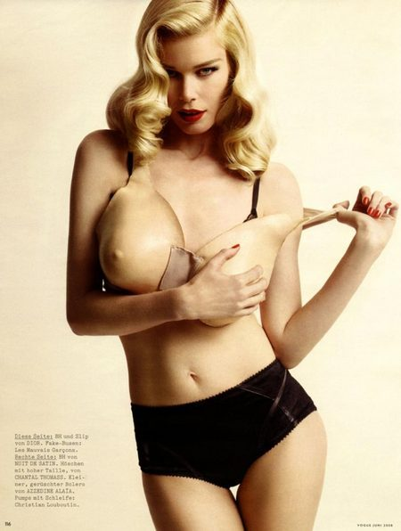 Claudia Schiffer for Vogue Germany, June 2008. Изображение № 6.