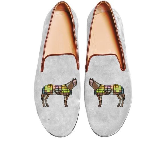 Mario Molinaro - обувь с вышивкой. Изображение № 10.