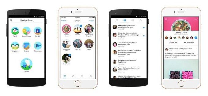 Facebook запустила приложение Groups. Изображение № 1.