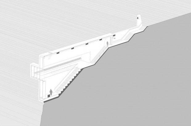 Архитектура дня: концепт церкви-креста на отвесной скале. Изображение № 13.